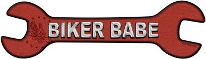 Biker Babe Novelty Metal Wrench Sign