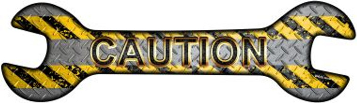 Caution Novelty Metal Wrench Sign