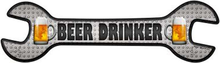 Beer Drinker Novelty Metal Wrench Sign