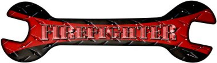 Firefighter Novelty Metal Wrench Sign