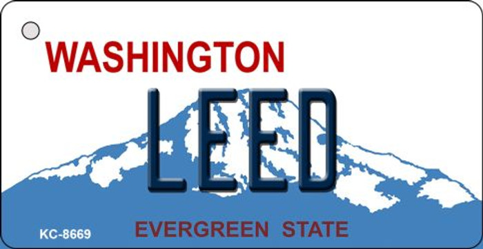Leed Washington Background Novelty Metal Key Chain