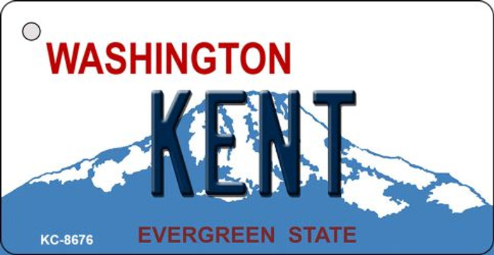 Kent Washington Background Novelty Metal Key Chain