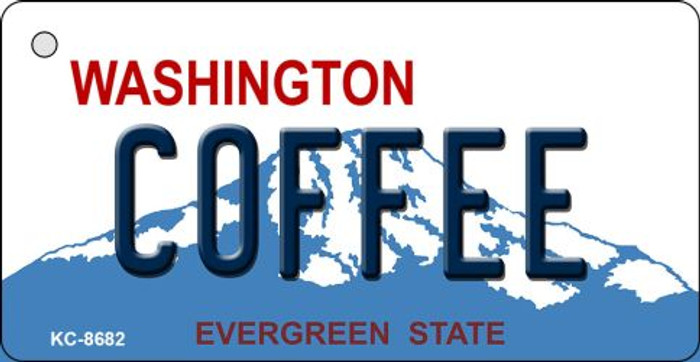 Coffee Washington Background Novelty Metal Key Chain