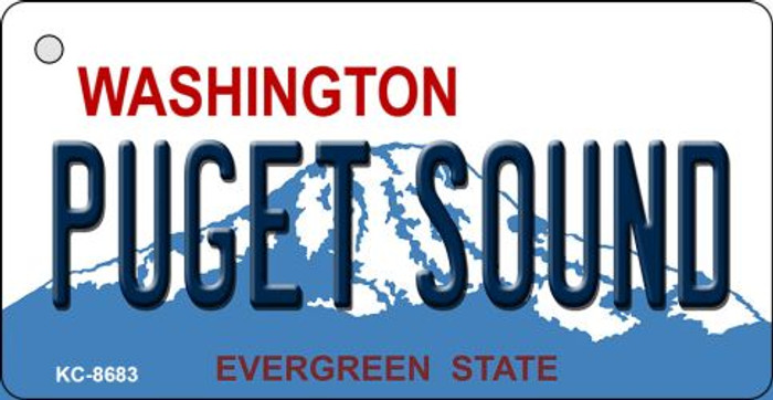 Puget Sound Washington Background Novelty Metal Key Chain