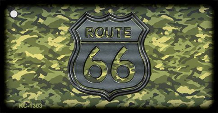 Route 66 Camouflage Novelty Metal Key Chain