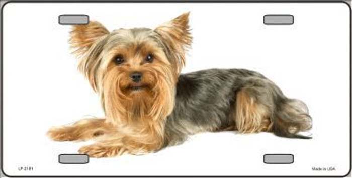 Yorkshire Terrier Dog Metal Novelty License Plate