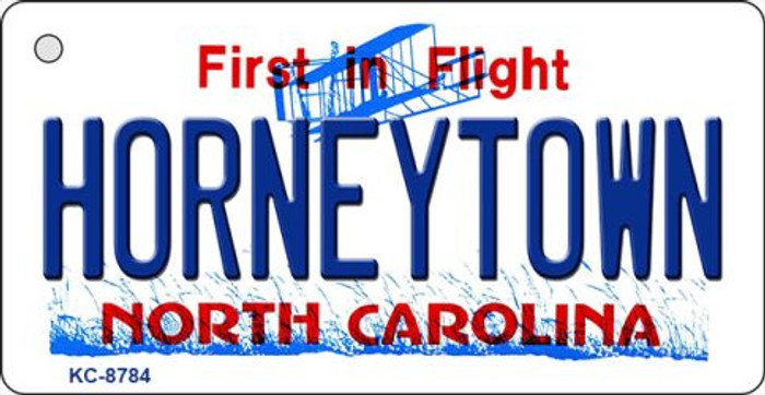 Horneytown North Carolina Background Novelty Metal Key Chain