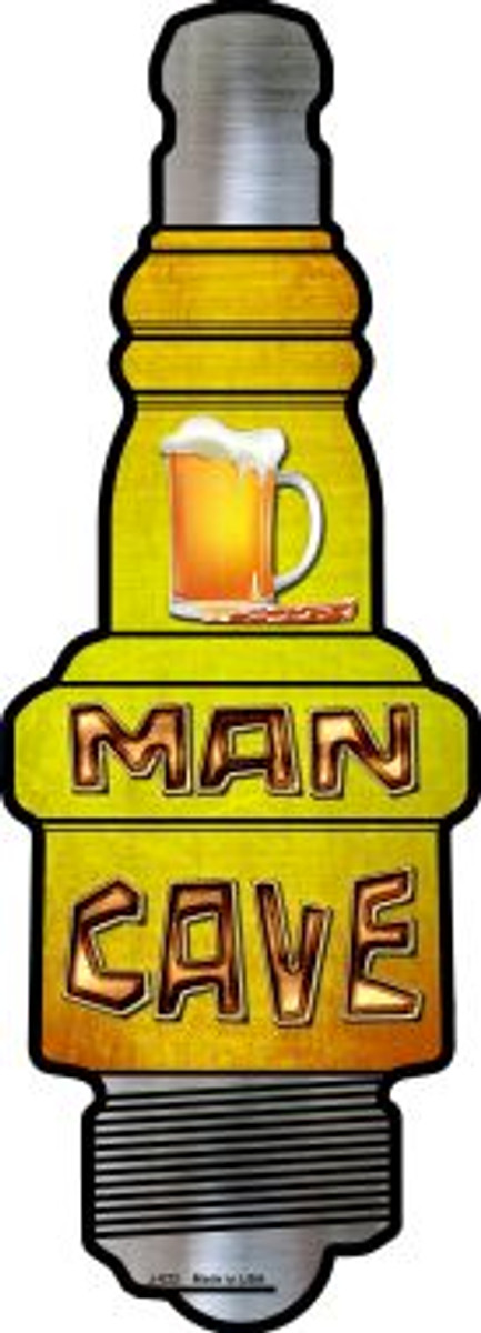 Man Cave Novelty Metal Spark Plug Sign J-022