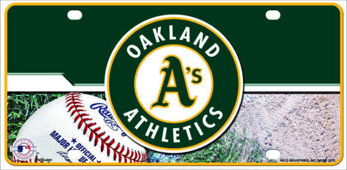 Athletics Novelty Metal License Plate