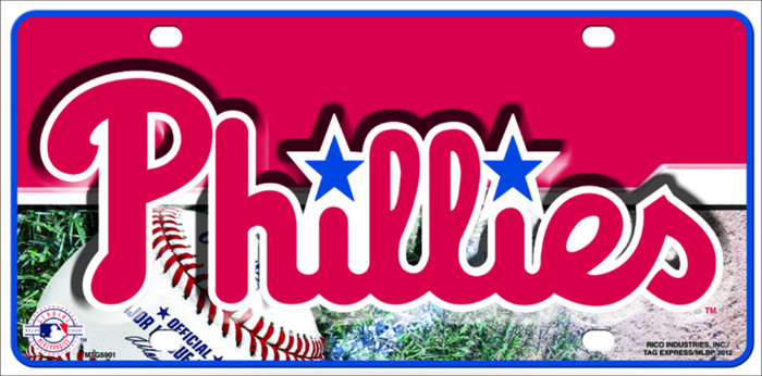 Phillies Novelty Metal License Plate