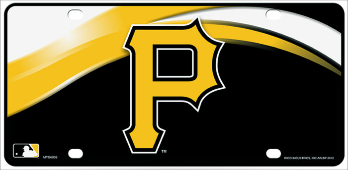 Pirates Novelty Metal License Plate