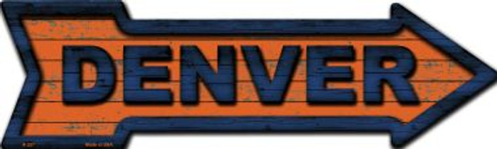 Denver Novelty Metal Arrow Sign