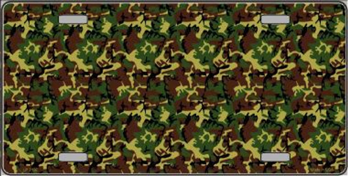 Camouflage Metal Novelty License Plate