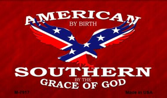 American By Birth Novelty Metal Magnet