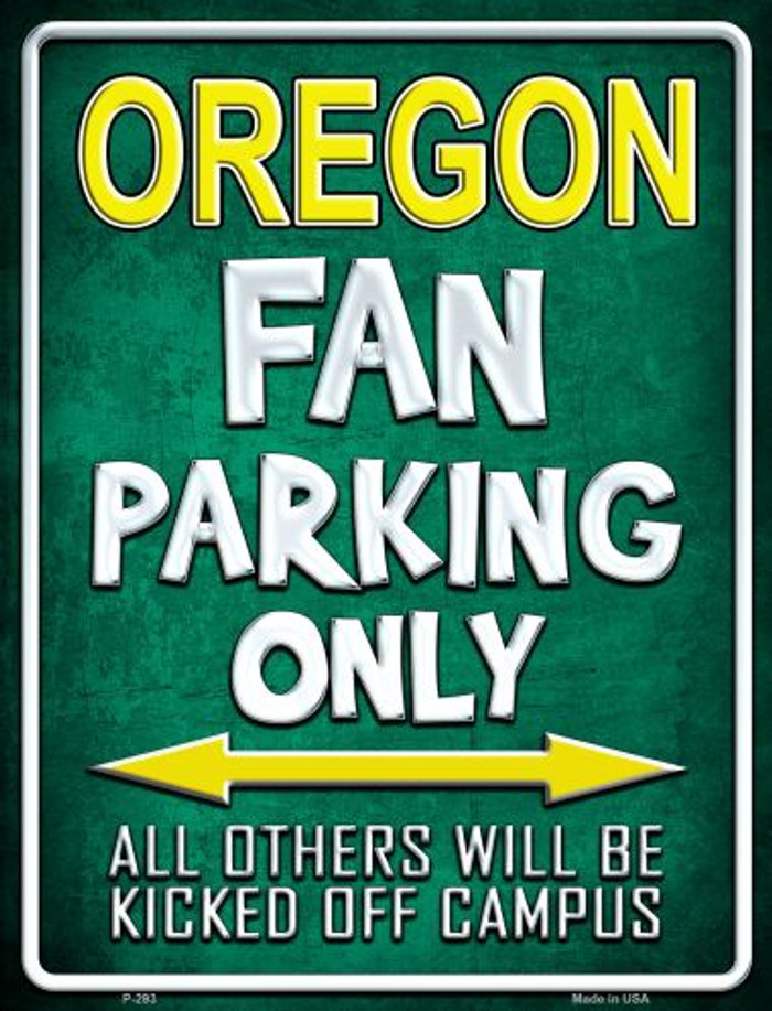 Oregon Metal Novelty Parking Sign