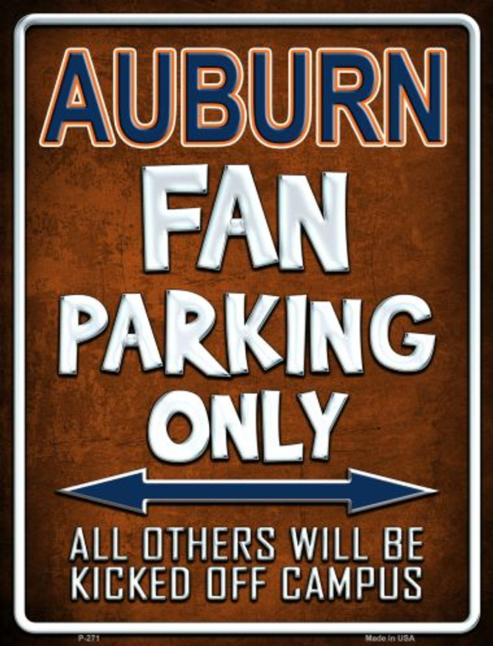 Auburn Metal Novelty Parking Sign