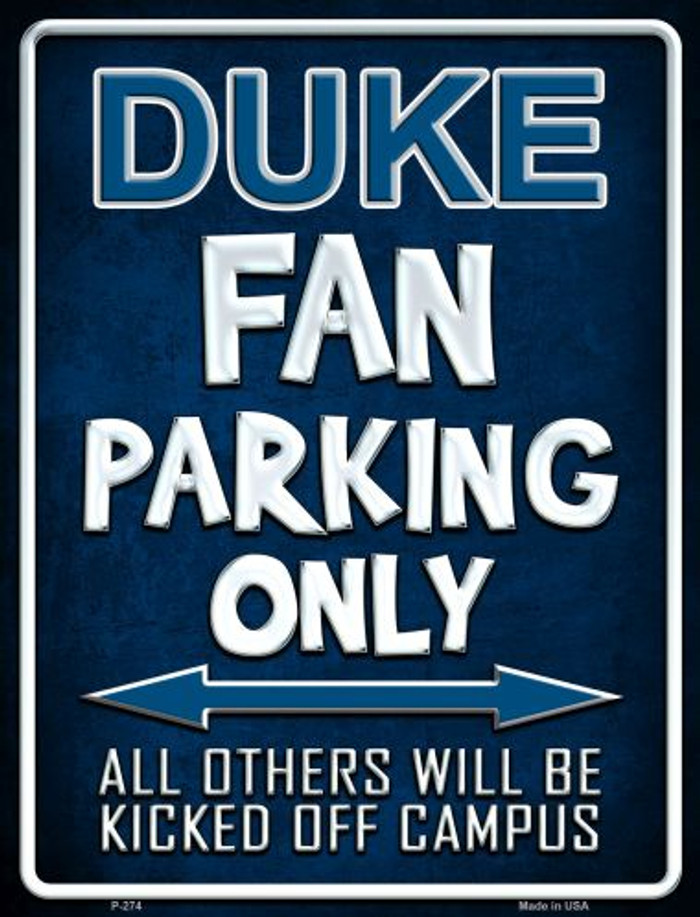 Duke Metal Novelty Parking Sign