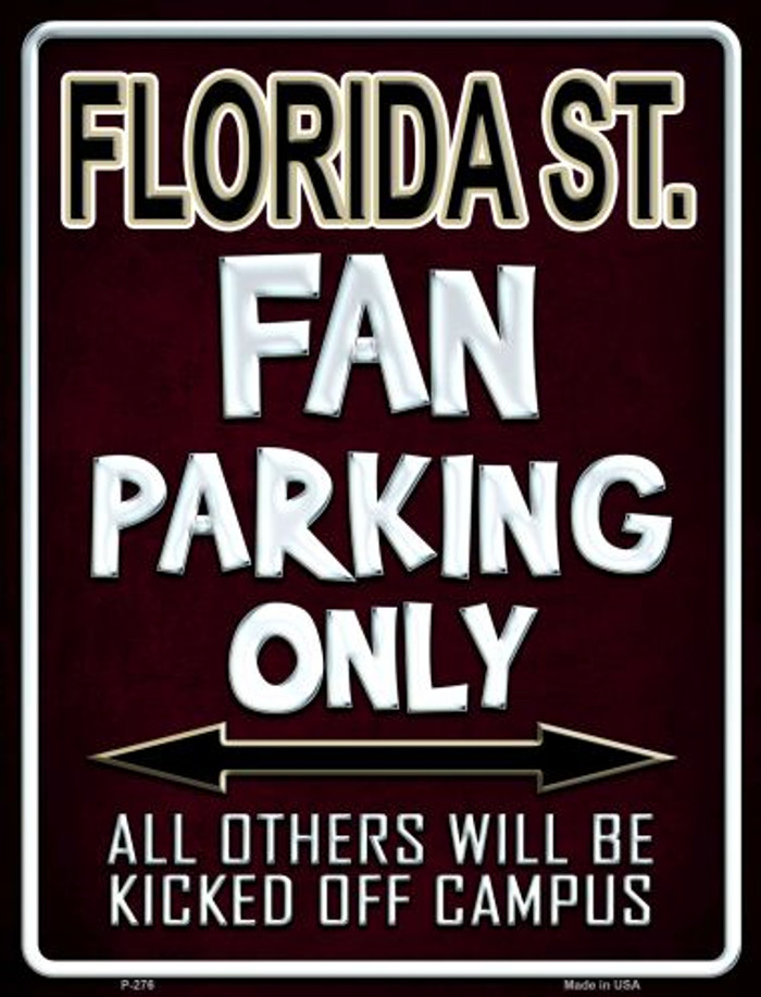 Florida State Metal Novelty Parking Sign