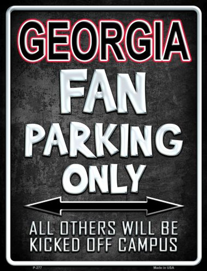 Georgia Metal Novelty Parking Sign