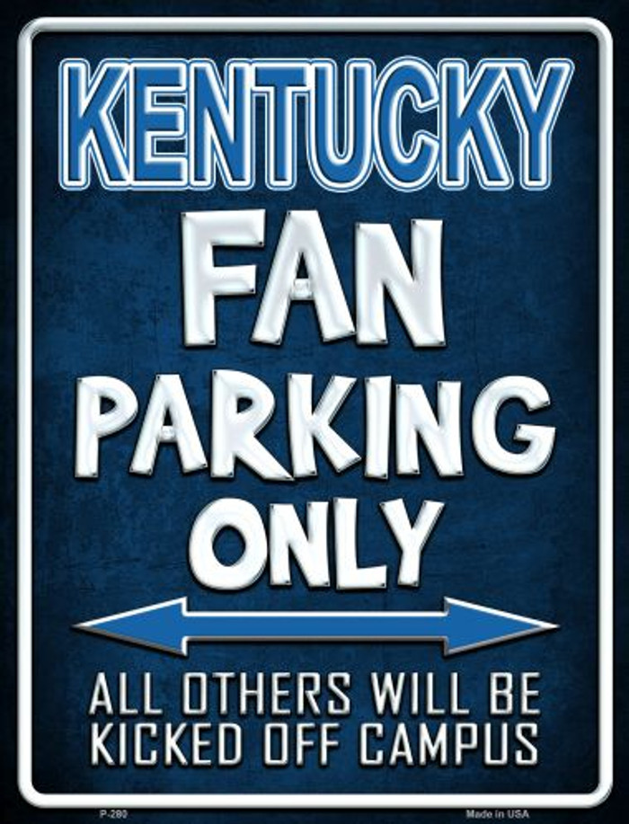 Kentucky Metal Novelty Parking Sign