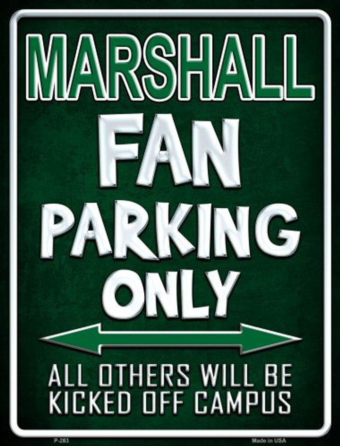 Marshall Metal Novelty Parking Sign