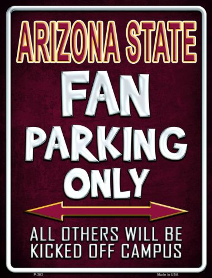 Arizona State Metal Novelty Parking Sign