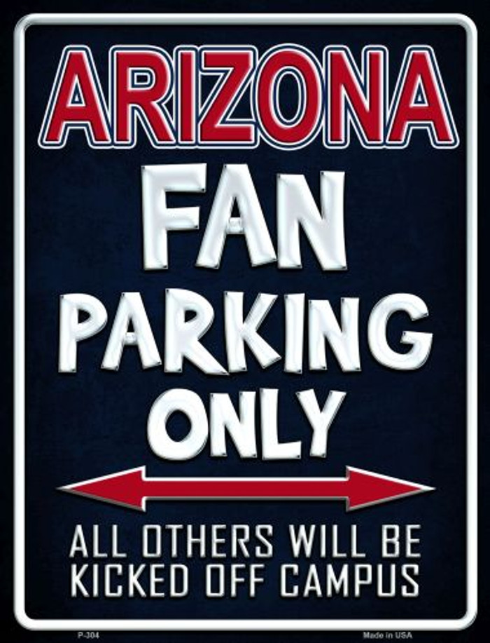 Arizona Metal Novelty Parking Sign