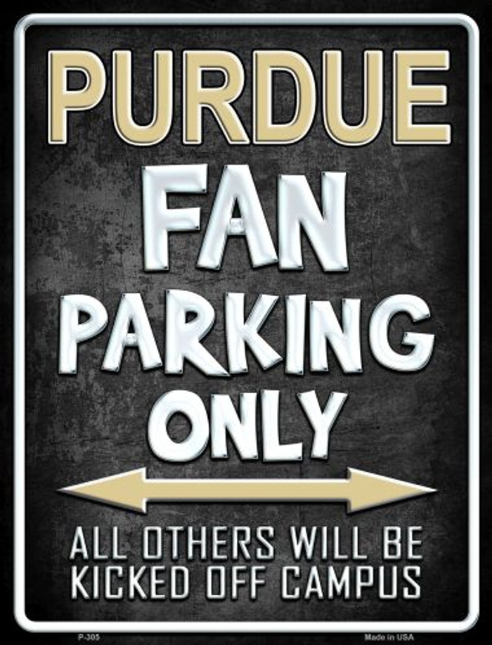 Purdue Metal Novelty Parking Sign