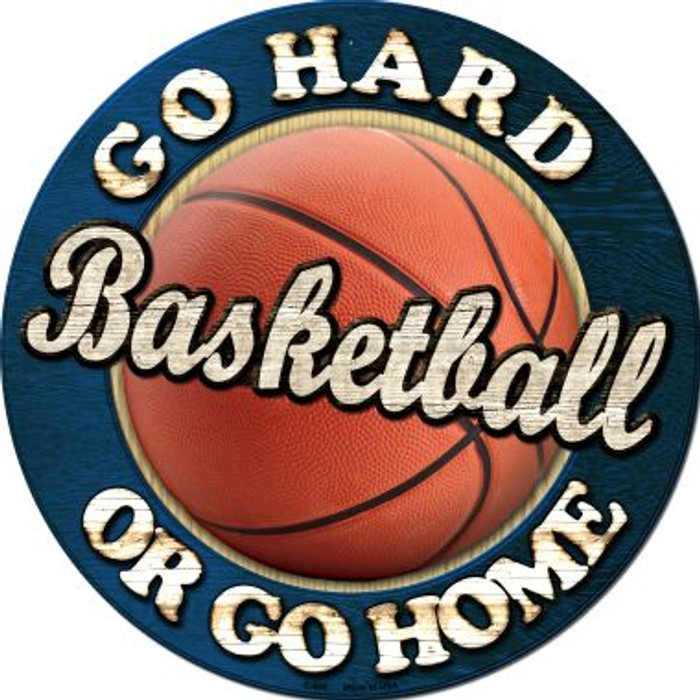 Basketball Novelty Metal Circular Sign