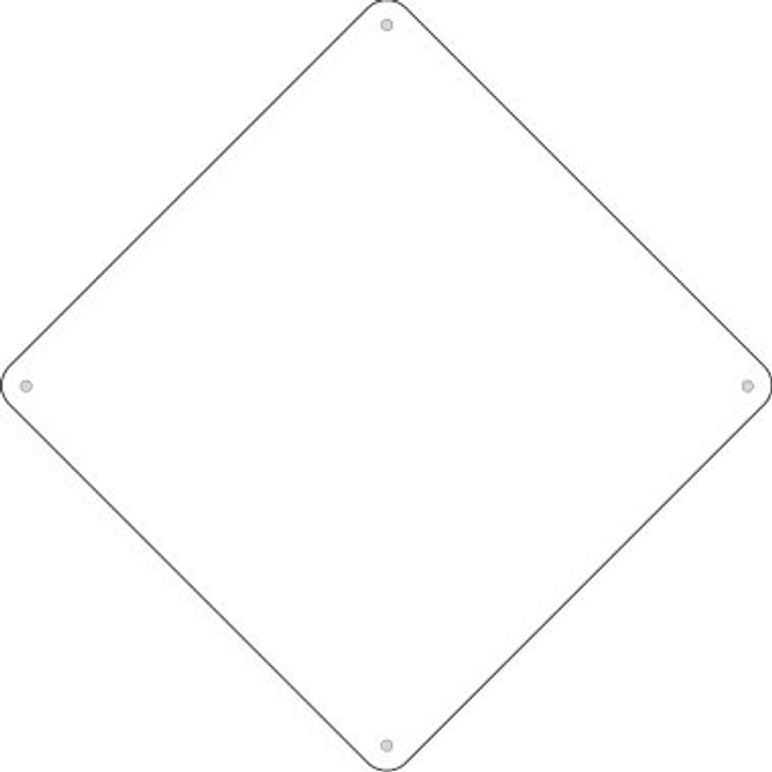 """White Dye Sublimation 16.5"""" Novelty Metal Crossing Sign"""