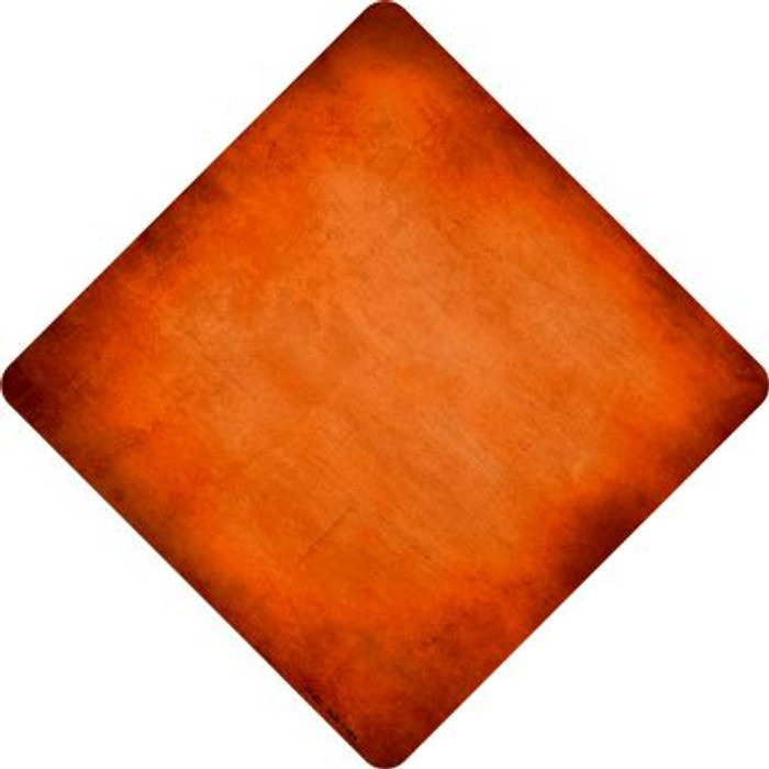 Orange Oil Rubbed Novelty Metal Crossing Sign