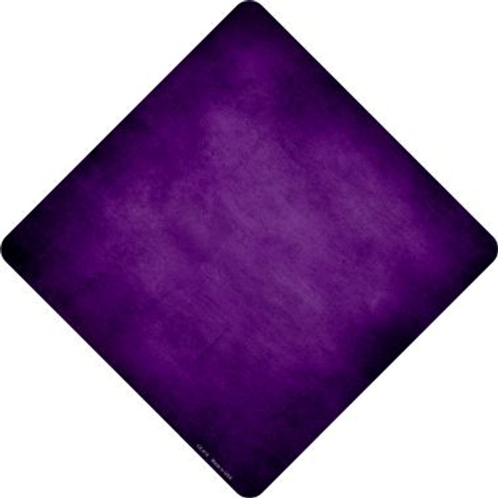Purple Oil Rubbed Novelty Metal Crossing Sign