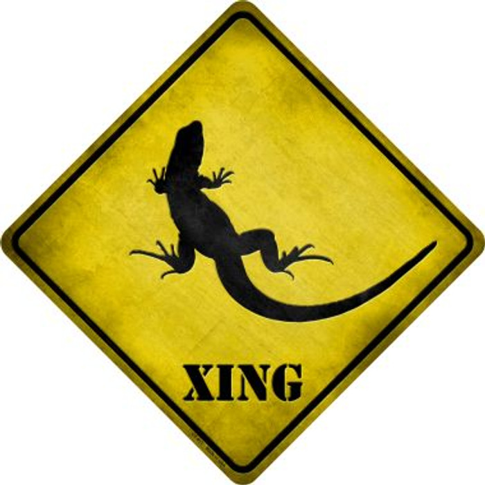 Lizard Xing Novelty Metal Crossing Sign