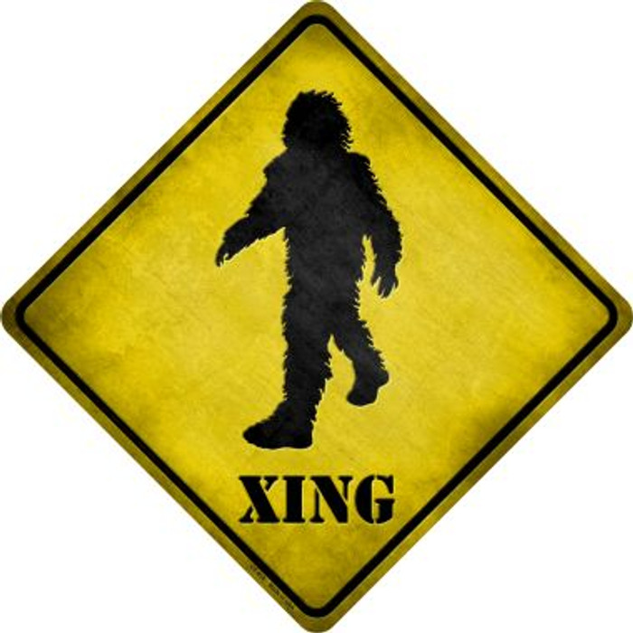 Bigfoot Xing Novelty Metal Crossing Sign
