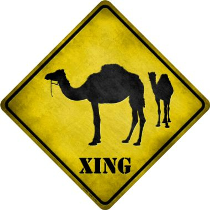 Camel Xing Novelty Metal Crossing Sign
