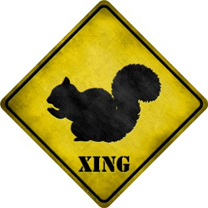Squirrel Xing Novelty Metal Crossing Sign