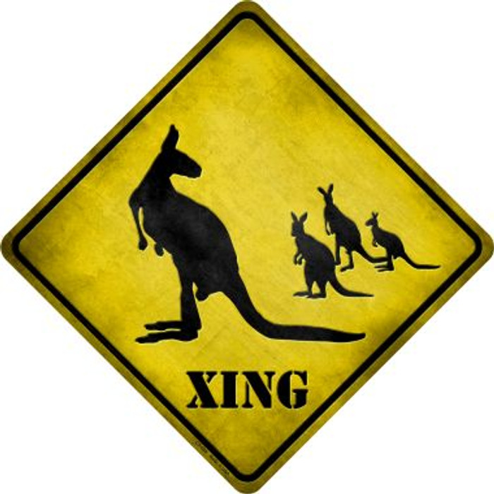 Kangaroo Xing Novelty Metal Crossing Sign