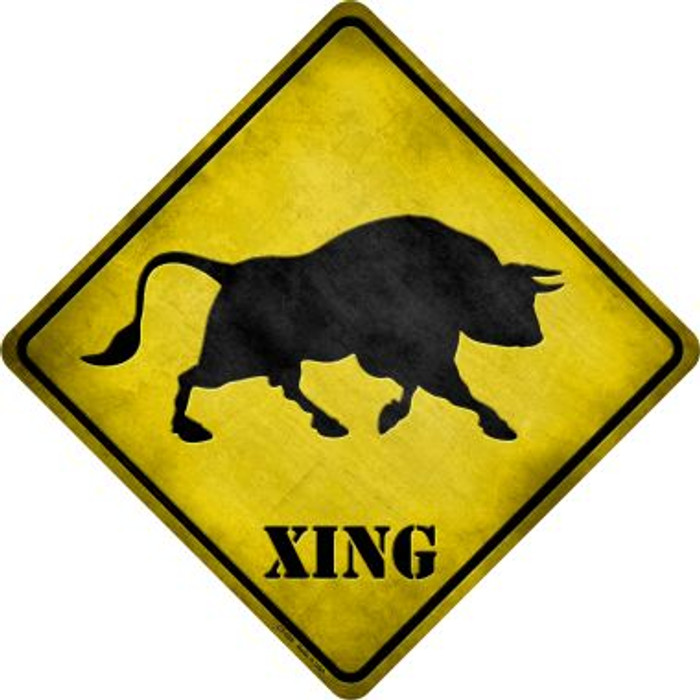 Bull Xing Novelty Metal Crossing Sign