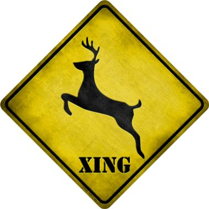 Deer Xing Novelty Metal Crossing Sign