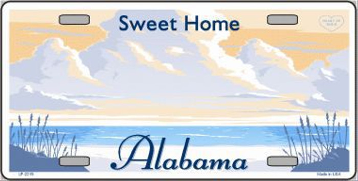 Alabama State Background Blank Novelty Metal License Plate