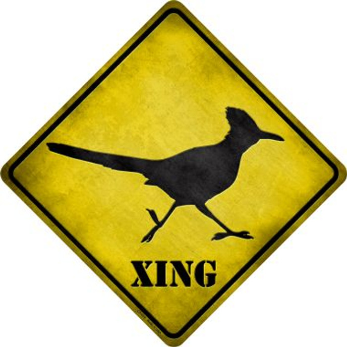 Roadrunner Xing Novelty Metal Crossing Sign