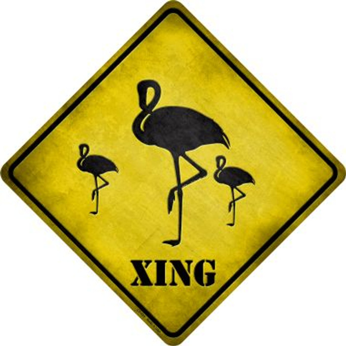 Flamingos Xing Novelty Metal Crossing Sign