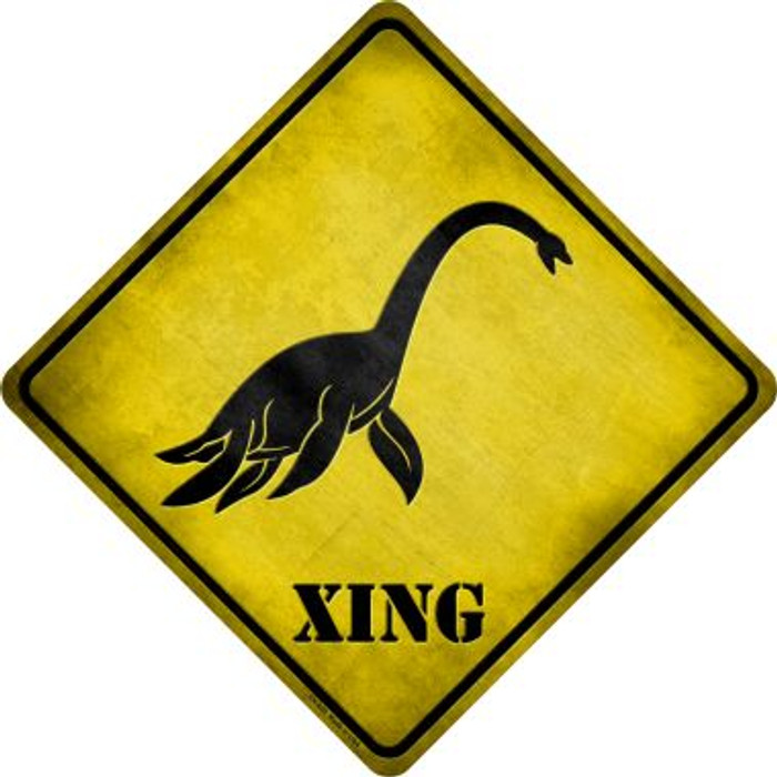 Sea Monster Xing Novelty Metal Crossing Sign