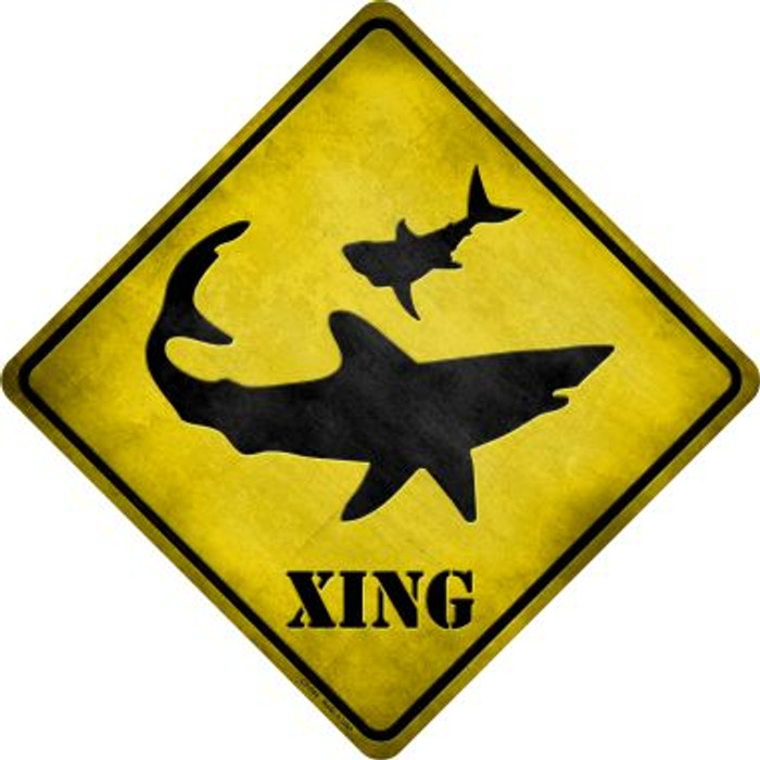 Shark Xing Novelty Metal Crossing Sign