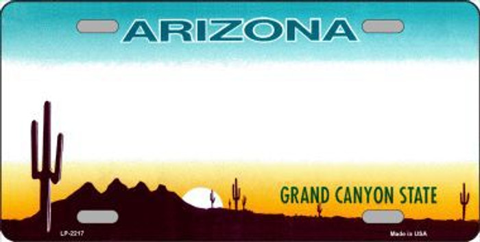 Arizona State Background Blank Novelty Metal License Plate