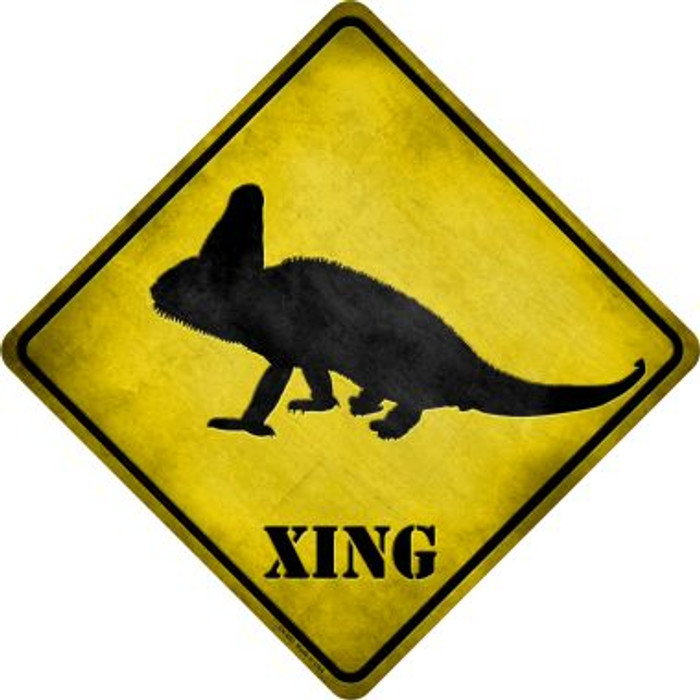 Chameleon Xing Novelty Metal Crossing Sign