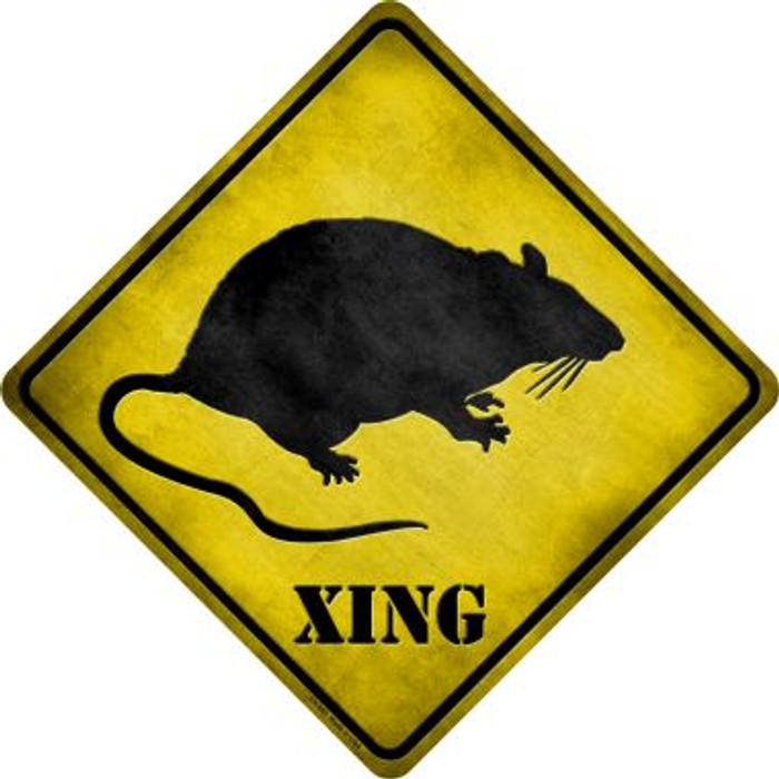 Rat Xing Novelty Metal Crossing Sign