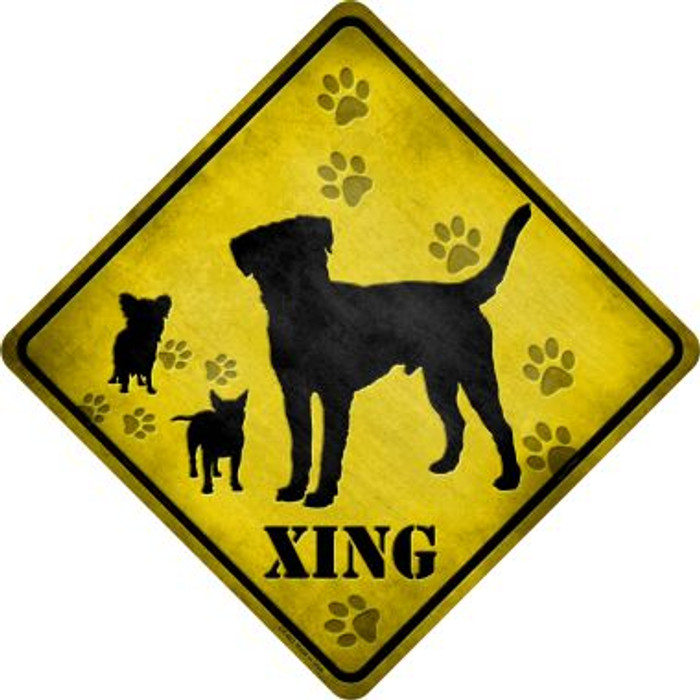 Dogs Xing Novelty Metal Crossing Sign