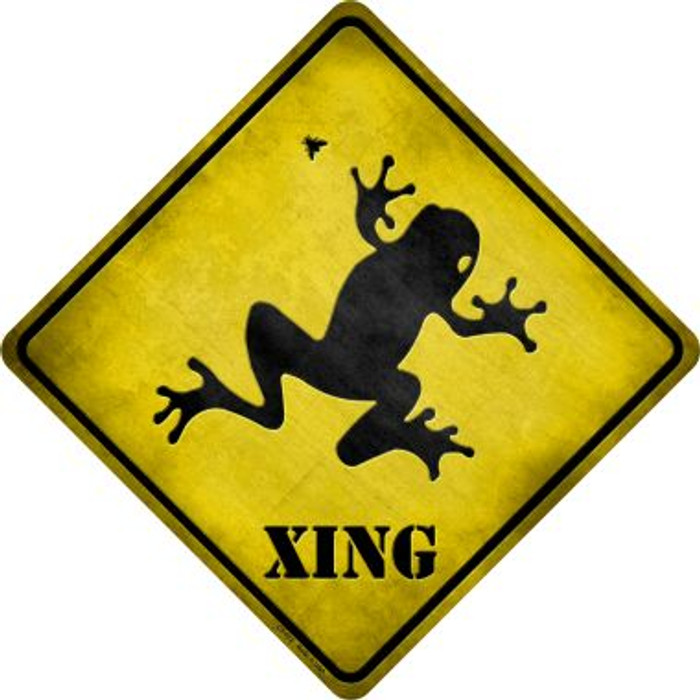 Frog Xing Novelty Metal Crossing Sign