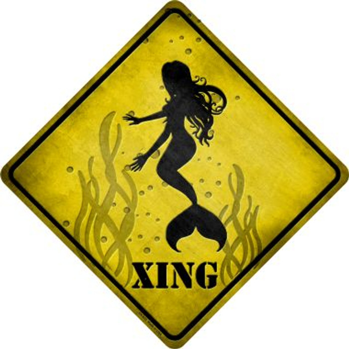 Mermaids Xing Novelty Metal Crossing Sign